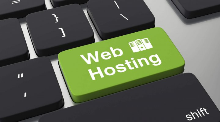 Web hosting button on keyboard.